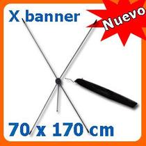 Display X Banner De Aluminio 70x170 Cm Para Lona Impresa Mmu