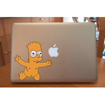 Macbook Laptop Sticker Bart Simpson Nevermind