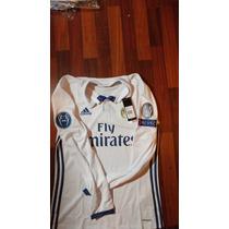 Jersey Adidas Real Madrid 16-17 Champions M Larga Original