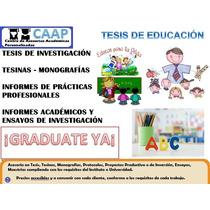 Tesis De Pedagogía Y Educación Asesorías