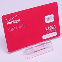 Tarjeta De Verizon Nano Sim (4ff) Para El Iphone 5, 5c, 5s,