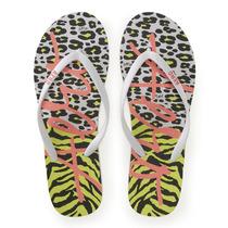 Sandalias Aeropostale Animal Print Flip-flop