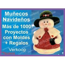 Kit Moldes De 1000 Peluches Muñecos Navideños En Español