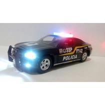 Dodge Charger Patrulla Policia D.f. Con Luz 1:24