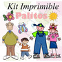 Kit Imprimible Palitos Motivos Varios Invitaciones Tarjetas