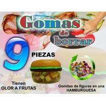 Gomas De Borrar - Hamburguesa - Gomitas Con Olor 9pzas