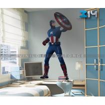 Avengers 10 Vinil Decorativo Súper Héroes, Capitán America
