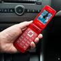 Celular Flip Rojo Teclado Ancianos Adultos Mayore Bluetooth