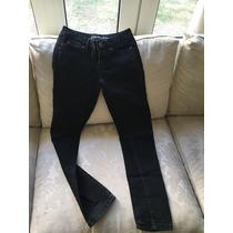 Jeans Aeropostale Bayla Skinny Negros Niña 12años Talla 00