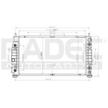 Radiador Dodge Intrepid 2000-2001 V6 3.5 Lts 2enfriador Aut