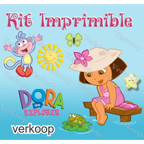Kit Imprimible Dora La Exploradora Invitaciones Tarjeta