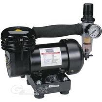 Compresor 1/8 Hp Aerografo Con Regulador/ Tamiya Revell