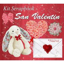 Mega Kit Elementos Scrapbook San Valentin Digital Png Fondos