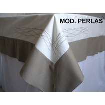 Mantel Modelo Perlas Tela Tergal Poliester Dmm