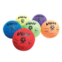 Voit Indoor Felt Soccer Ball (prism Pack) Size 4 Pack Of 6