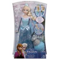 Frozen Princesa Elsa Vestido Colores Mágico Disney