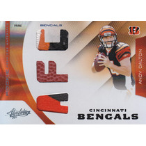 2011 Absolute 3x Patch Ball Rookie Andy Dalton 8/25 Bengals