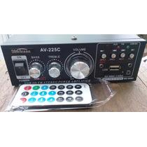 Amplificador 100w Mod. Av-225c Weicson Moto Auto Casa, Dc/ac