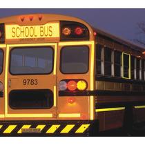 Tiras Reflectivas Grado Comercial Transporte Escolar Láminas