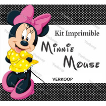 Kit Imprimible Minnie Mouse Invitaciones Tarjetas Frames