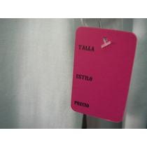 Etiqueta Color Perforada Para Ropa Con Talla Precio Estiloo