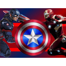 Kit Imprimible Capitan America Vs Iron Man Civil War 2x1