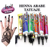 Henna Arabe Tatuajes Tatoo Profesional Cosmetico Maquillaje