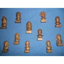 Lote De11 Bustos De Personajes Históricos ( Sabritas ) (80s)