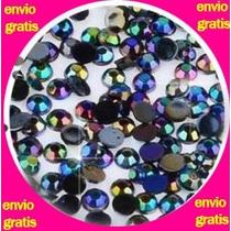 2,000 Piedra Negras Tornasol Envio Gratis Cristal Acrilico
