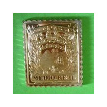 Super Ganga, Medalla De 1/2 Real De Costa Rica Plata 0,925