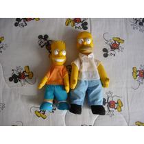 Los Simpsons Muñecos De Bart Y Homero Burger King 1990