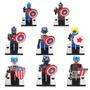 Set De 8 Figuras Del Capitan America Compatibles Con Lego