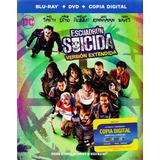Escuadron Suicida Extendida Pelicula Blu-ray + Dvd + Dc