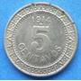 Moneda Mexico 5 Centavos 1914 Nickel Excelente