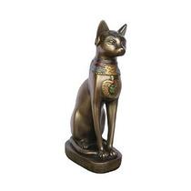 Diosa Egipcia Bastet Gato Sentado Estatua
