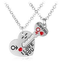 Collar Corazón Y Llave Regalo Amor Pareja Novios Enamorados