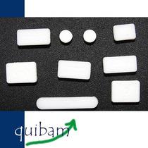 Apple Macbook Kit Cubre Puertos Protector Polvo Agua Blanco