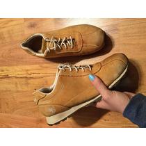 Zapatos Tenis Timberland Piel Fina Color Miel Originales!!