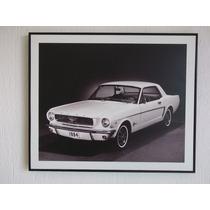 Poster Con Marco, Mustang Impreso En Plastico Alta Calidad