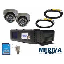 Kit Camaras De Seguridad Para Auto 32 Gb 600tvl Meriva