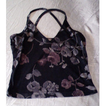 T-0028 Blusa Negra Floreada Self Steem
