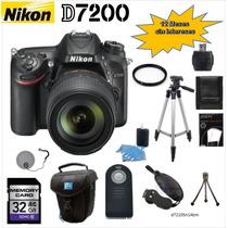 Camara Nikon D7200 + 18-105mm + 12 Accesorios + 12 Meses Si