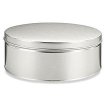 Caja Con 20 Latas Decorativas Para 1 Kilo 360 Gr Plateado