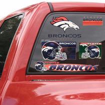 Denver Broncos - Calcomanias Ventana Auto