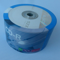 50 Cd-r Virgen Mp3 52x 700mb 80 Minutos Varias Marcas Cds