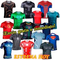 Playeras Superheroes Manga Corta Jersey Batman Superman Y +