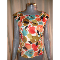 Blusa Talla 12 Estampado Floreado Marca Maggy London