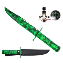 Cuchillo Zombie -skull Colores Con Kit De Superivencia