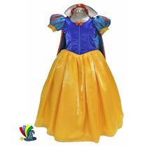 Disfraz Vestido Blanca Nieves Modelo Disney Talla 6
