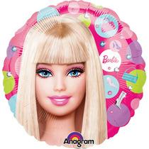 Globo Barbie Paq 10 Pzas 9 Pulgadas Para Centro De Mesa